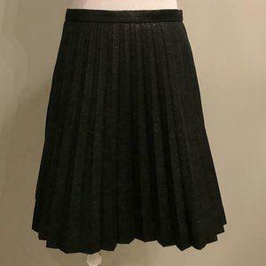 J.Crew $118 Lamé Pleated Mini Skirt H2854